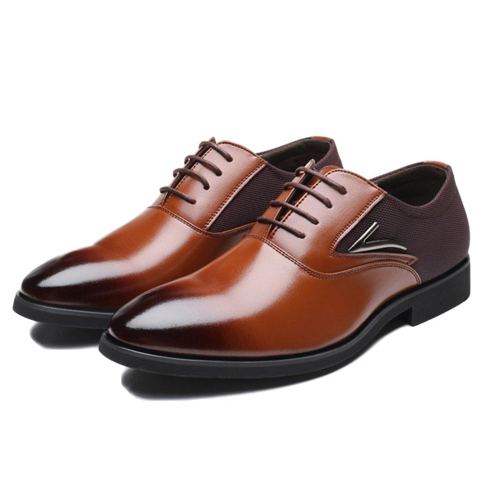 Braun Leder Schuhe Herrenschuhe Mann Derby Office Lace-up Herrenschuhe Schuhe Große Größe Business Casual Schuhe 46 47 48 Braun 358419