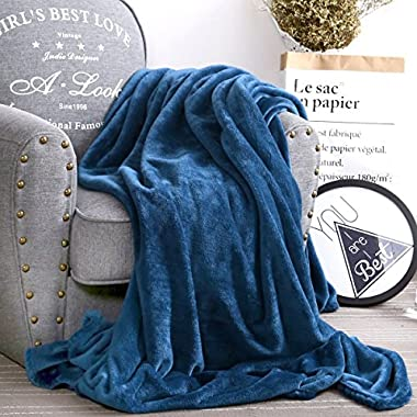 Luxury Collection Ultra Soft Plush Fleece Lightweight All-Season Throw/Bed Blanket, Throw, Navy Blue