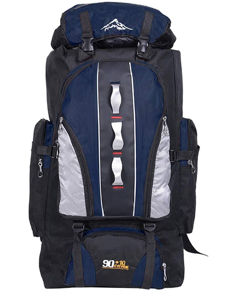 Profond Bleu  100L Sac à Dos de randonnée - Nylon Homme Femme Imperméable Sport Trekking pour Voyage Camping, Orange, 100L