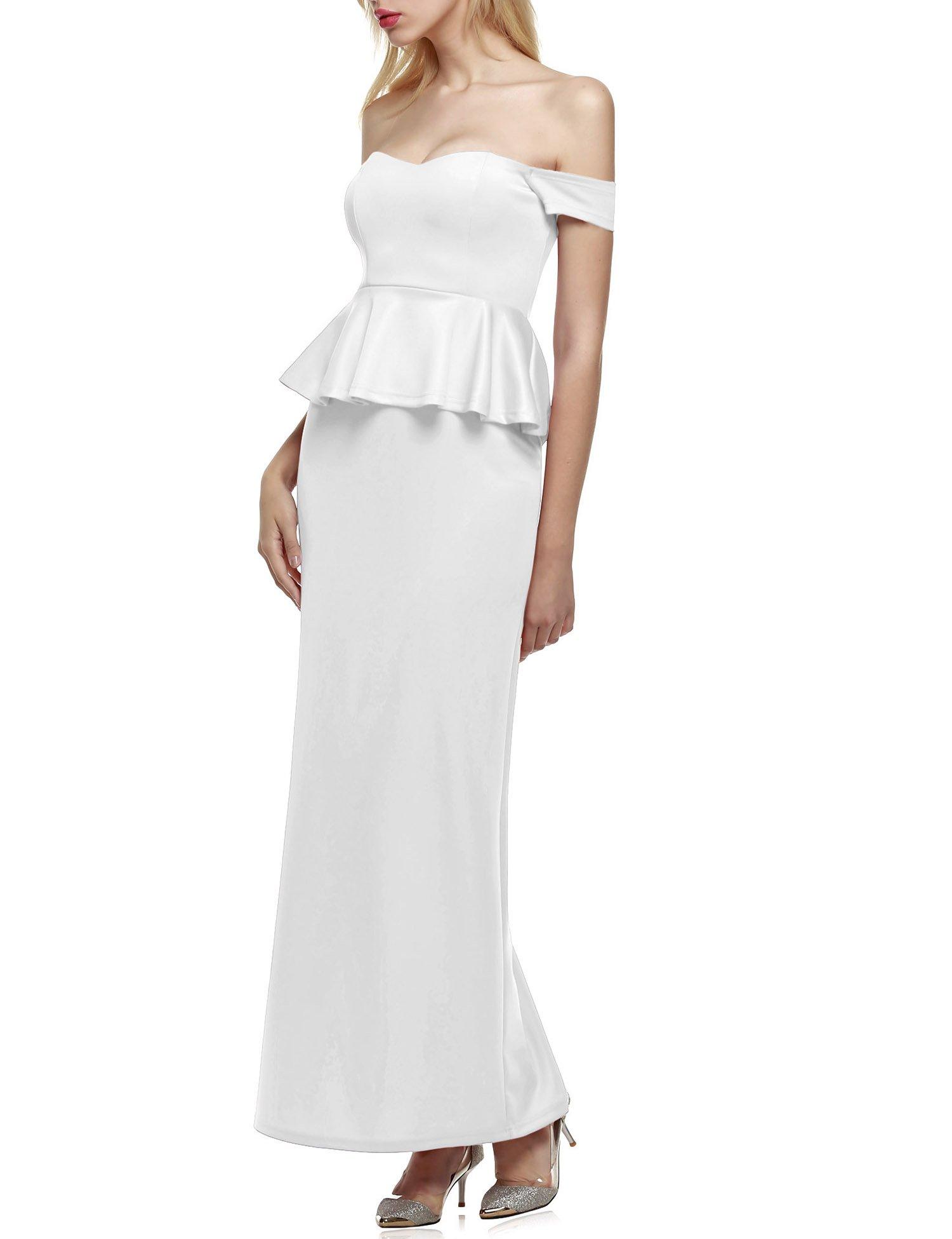Peplum Formal Gowns: Amazon.com