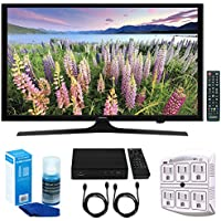 Samsung UN49J5000 - Flat 49 LED HD 5 Series Smart TV (2017) w/ Tuner Bundle Includes, HD Digital TV Tuner, SurgePro 6-Outlet Surge Adapter w/ Night Light, 2x HDMI Cable & Screen Cleaner For LED TVs