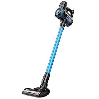 Cordless Vacuum Cleaner, GOOVI Cordless Stick Vacuum, 10KPa Powerful Cleaning Lightweight 2 in 1 Handheld Vacuum with Rechargeable Lithium Ion Battery and LED Brush
