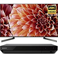 Sony 65-Inch 4K Ultra HD Smart LED TV 2018 Model (XBR65X900F) with Sony 4K Ultra HD Blu Ray Player with Dolby Vision