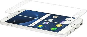 StilGut, pellicola protettiva ultraresistente in vetro temperato per Samsung Galaxy S7. Pellicola vetro temperato curvo 3D per originale Samsung Galaxy S7, bordo bianco
