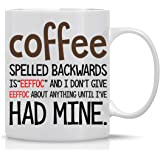 Eeffoc Is Coffee Spelled Backwards, As I Dont Give Eeffoc Mug- Perfect Office Mug Sarcastic Cup Funny Mugs For Women, Men, Bo
