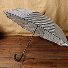 SSBY Japanese style handle bar automatic reinforcement stripes Plaid umbrella windproof umbrella business men double umbrella