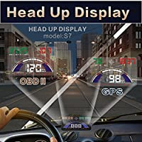 Universal 5.8 HUD Head Up Display For Auto With OBD Port Plug