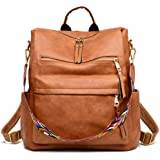 Women's Fashion Backpack Purses Multipurpose Design Convertible Satchel Handbags and Shoulder Bag PU Leather Travel bag