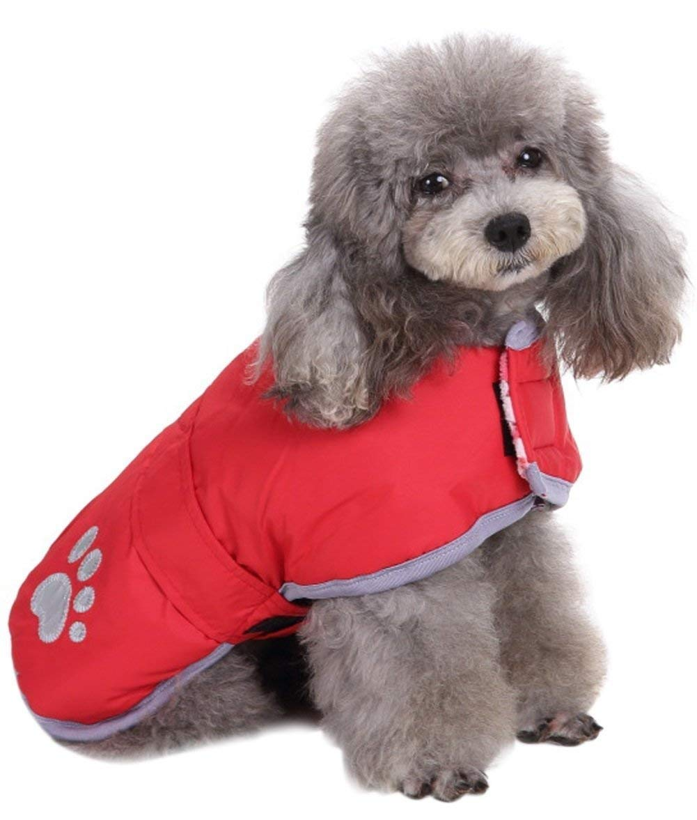 Red M Red M Queenmore Cold Weather Dog Coats Loft Reversible Winter Fleece Dog Vest Waterproof Pet Jacket Available in Extra Small, Small, Medium, Large Extra Large Sizes