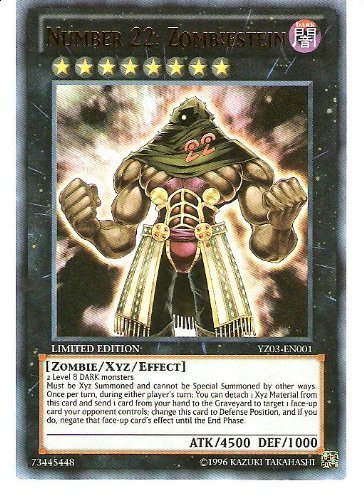 YuGiOh   Number 22  Zombiestein  YZ03EN001  Ultra Rare  Limited Edition by YuGiOh
