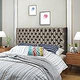 Great Deal Furniture Hunter Grey Velvet Queen/Full Headboard