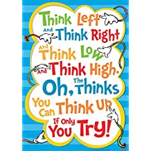 "Paper Magic Eureka Dr. Seuss Think Left Think Right 13""x19"" Posters (837112)"