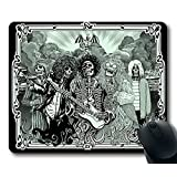 Custom popular Music(Singer) Mouse Pad with Jimi Hendrix Kurt Cobain Jim Morrison Janis Joplin Non-Slip Neoprene Rubber Standard Size 9 Inch(220mm) X 7 Inch(180mm) X 1/8 Inch(3mm) Mousepad Mousepads