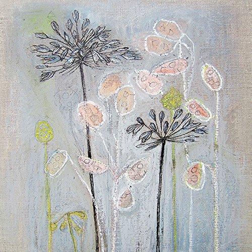 Shyama Ruffell Leinwanddruck, Polyester, Mehrfarbig, 40 x 40 cm