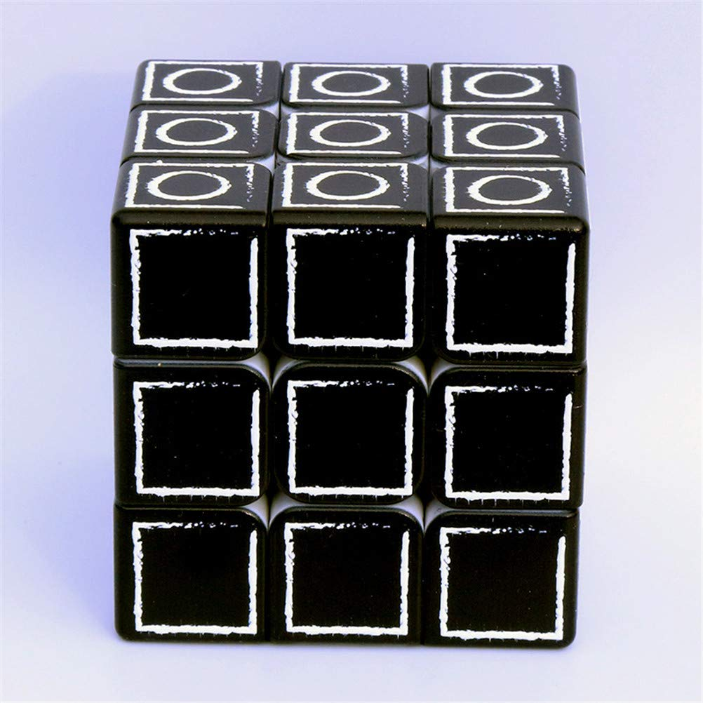 Cube Cubes of 3x3x3 Magic Cube Puzzles Toy Cubes Fingerprint Blind Cube Relief Smooth Cube Brain Competition Game,Blind Fingerprint Embossed Puzzle Educational Toy