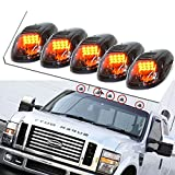 GZYF Smoke 5pcs Set 9-LED Cab Roof Running Marker Lights fit Truck SUV Off Road
