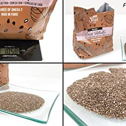 Marca Amazon - Happy Belly Semillas de chía orgánica, 1000 g ...