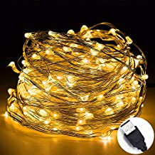 Sea Star USB Starry String Lights 100 LEDs 33ft/10m Copper Wire Decor Rope Lights ( Warm White )