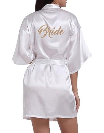 WPFING Blanco Camisón de la Boda para el Camisón Nupcial de la Novia del Partido Nupcial