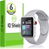 IQ Shield Screen Protector Compatible with Apple Watch (42mm S1, S2, S3)(6-Pack)(Ultimate) Anti-Bubble Clear Film