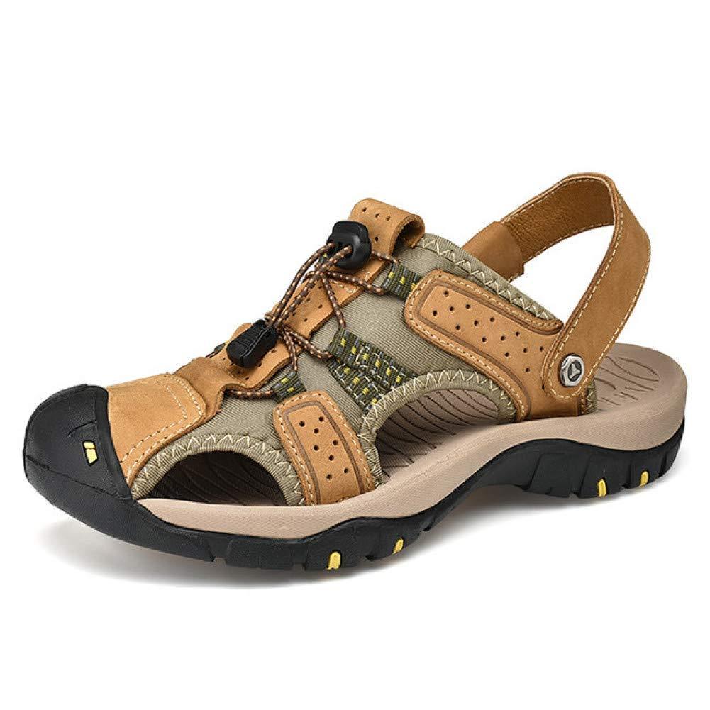Tanxianlu Hommes Sandales PU Summer Beach Hommes Chaussures Décontractées Sandales en Plein Air Big Taille Chaussures Hommes or