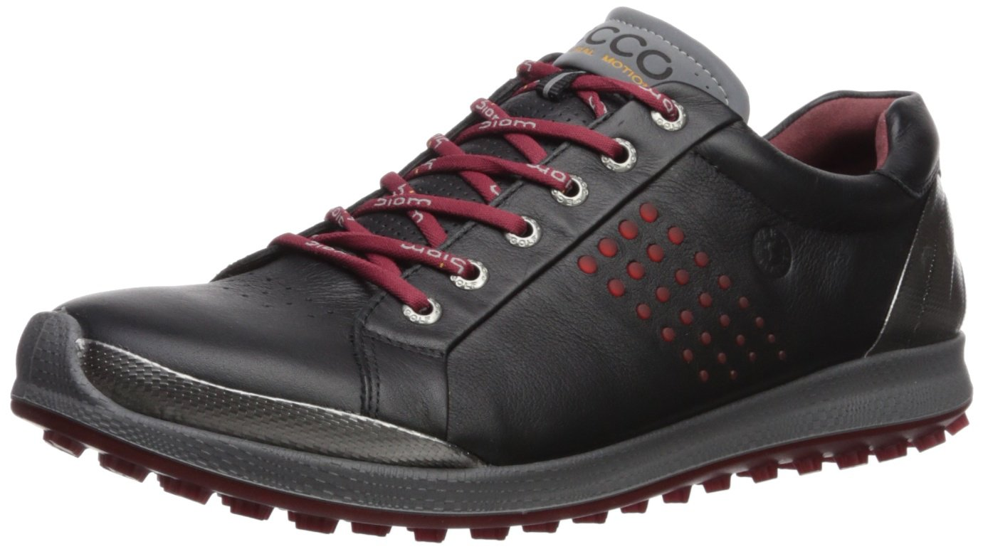 ECCO Men's Biom Hybrid 2 Hydromax Golf Shoe B071KB1RM2 40 Medium EU (6-6.5 US)|Black/Brick