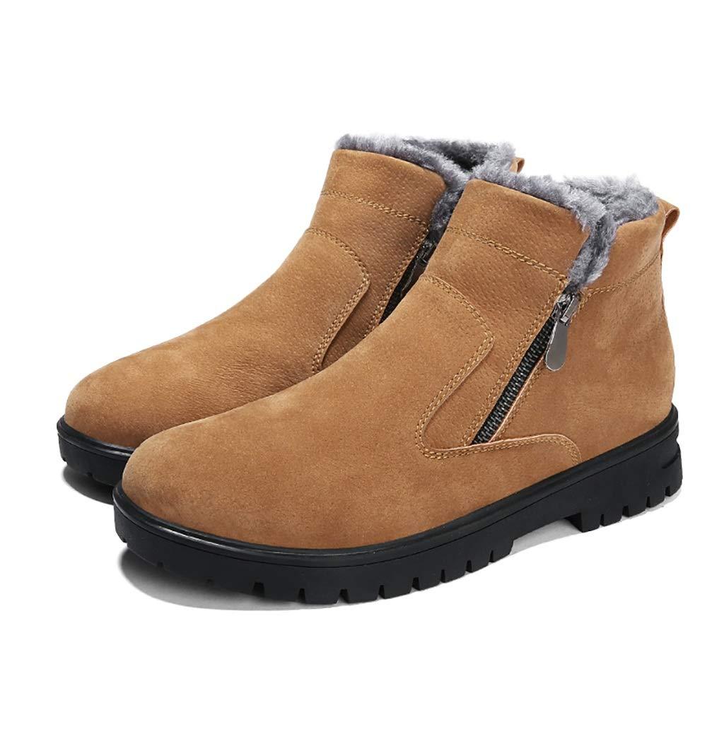 ZYFA Freizeitschuhe Freizeitschuhe Wildleder schnüren hohe Schuhe Flache Gummi Rutschfeste Martin Stiefel (Farbe   B, größe   44)