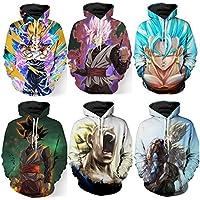 Feverlogic1881 3D Dragon Ball Z Hoodie Sweatshirts Goku Pullover Long Sleeve Outerwear Hip Hop