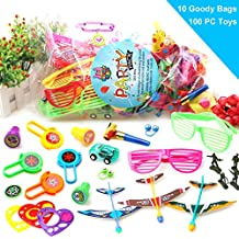 JJ Novelty Goods 100-Piece Kids Party Favors, Goody Bags, Pinata Fillers and Classroom Prize Toy Assortment With Plan The Ultimate Party E-Book