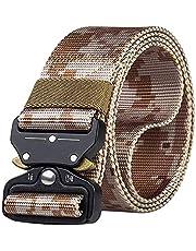 Desconocido JIER Cinturón de Cintura táctico para Hombres Cintura de Nylon Militar multifunción Equipo de Entrenamiento Militar Ajustable Cinturón de liberación rápida para Escalar