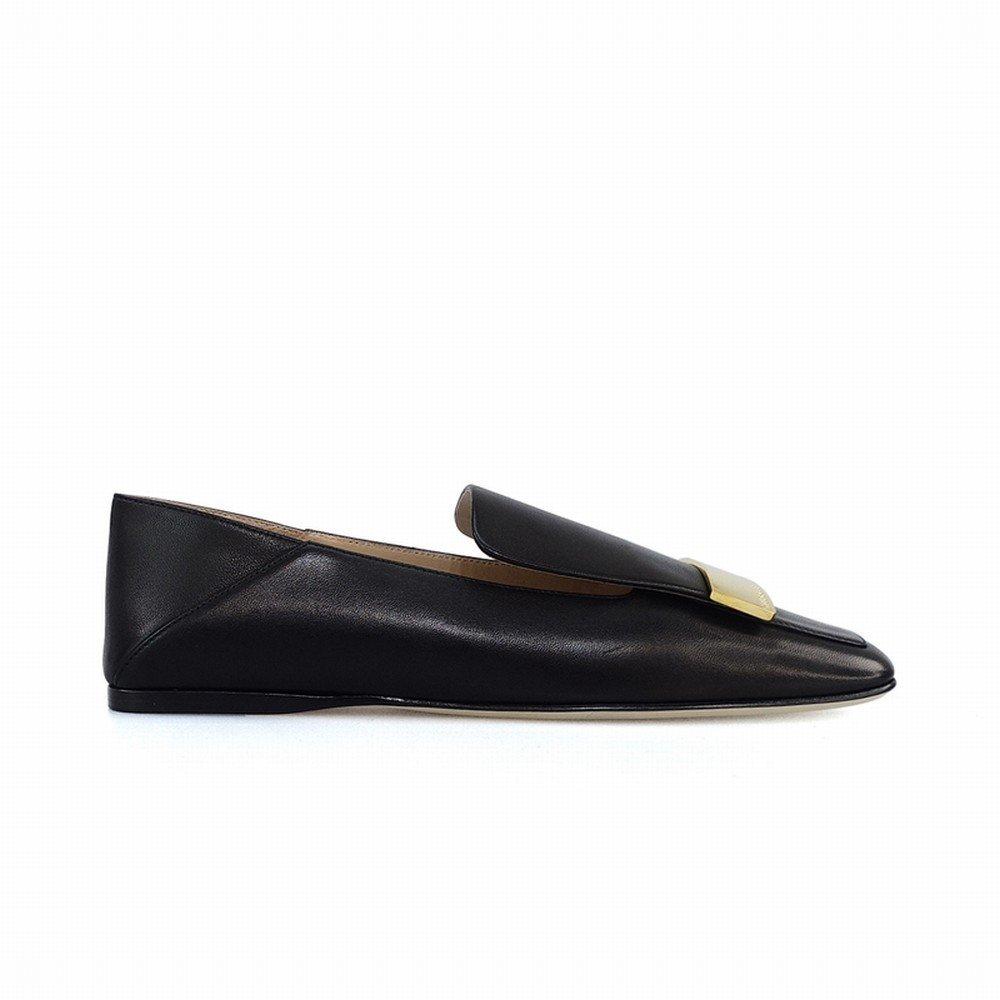 DHG Wirklich Flache Britische Loafer Loafer Loafer Schuhe,Schwarz,35 bc7807