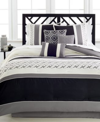 Fletcher 7-Pc. Comforter Set - Bed in a Bag - Bed & Bath - Macy's