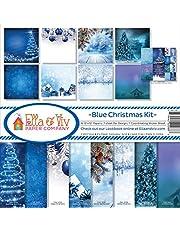 Ella & Viv by Reminisce Blue Christmas Scrapbook Collection Kit