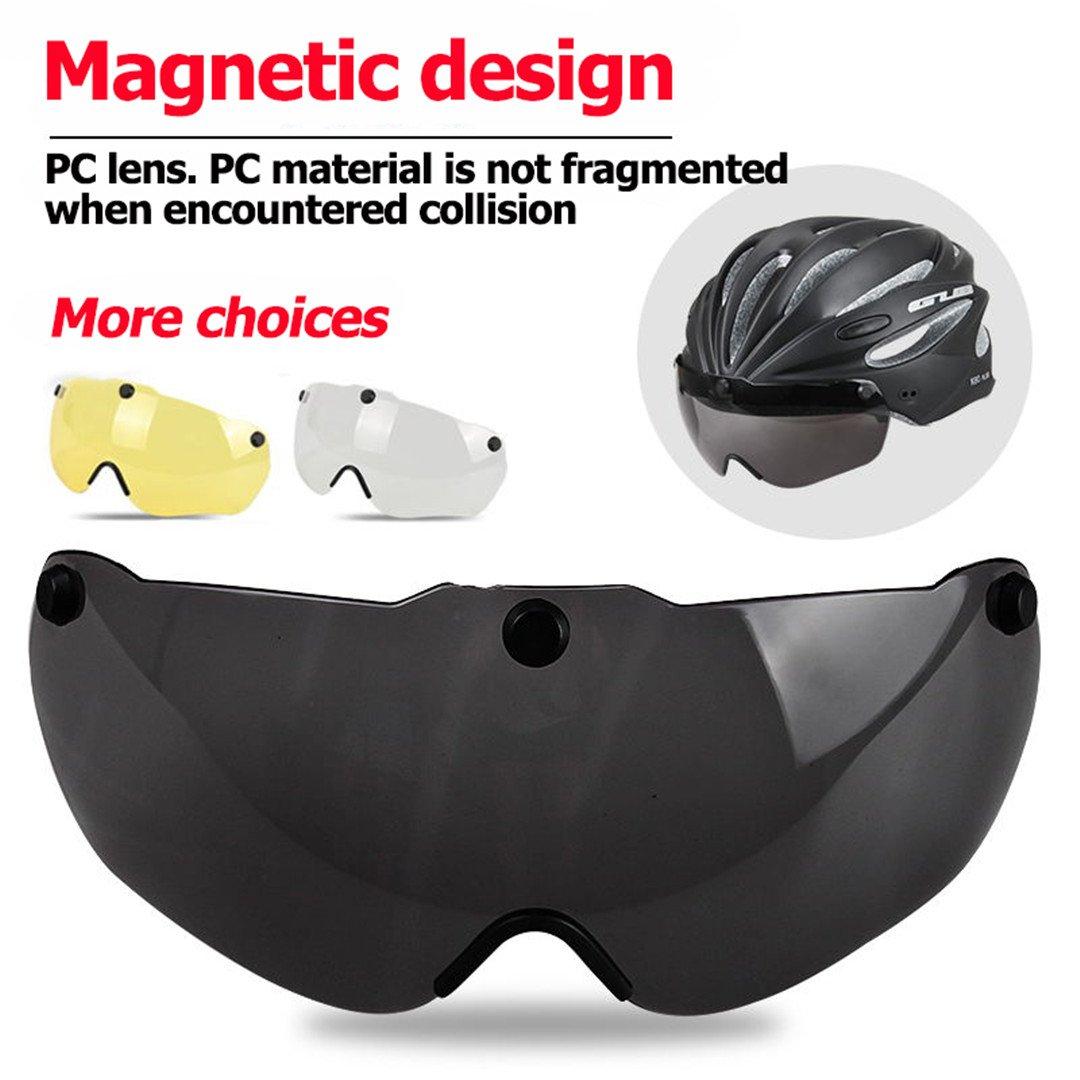 HELMEGOS Radfahren magnetische Helm mit Visier magnetische Radfahren Schutzbrille Integrally-Molded MTB Rennrad Fahrrad 2e888e