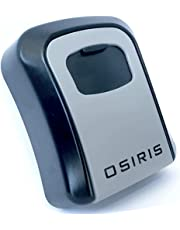 TOP RATED! Osiris Wall Mount Key Lock Box - Strong, 4-Digit Combination, Metal, Outdoors Key Safe - Perfect for Realtors, Airbnb, Carers, Students & Housemates
