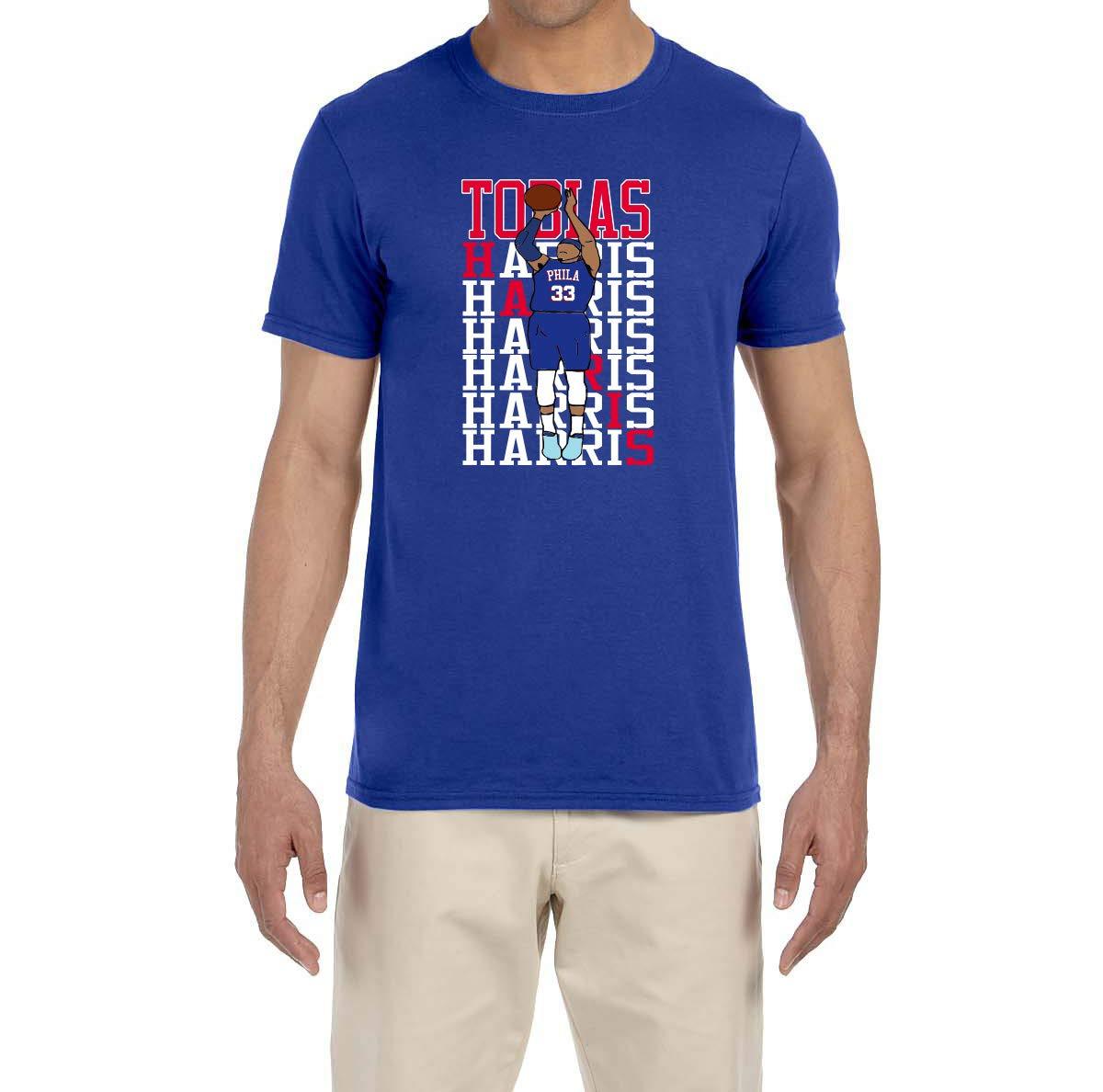 Peg Leg Shirts Blue Philadelphia Harris Text T Shirt 6402