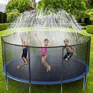 Ohuhu Trampoline Sprinklers for Kids 49FT, Outdoor Water Play Sprinklers for Kids Fun Summer Water Toys, Water