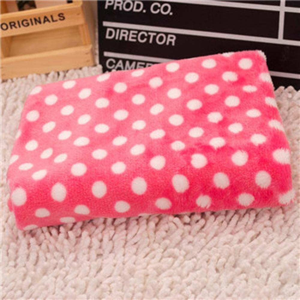 Dixinla Pet Bed Autumn and Winter Cushion Blanket dot pet Coral Velvet Blanket Dog Sleeping Blanket Coral Velvet 40  60cm