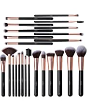 Anjou Makeup Brushes, 24pcs Makeup Brushes Set Premium Cosmetic Brushes for Foundation Blending Blush Concealer Eye Shadow, Cruelty-Free Synthetic Fiber Bristles, Rose Golden