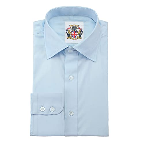 Plain Long Sleeve Mens Shirts,14 Classic Colours Regular Fit,Single & Double Cuffs