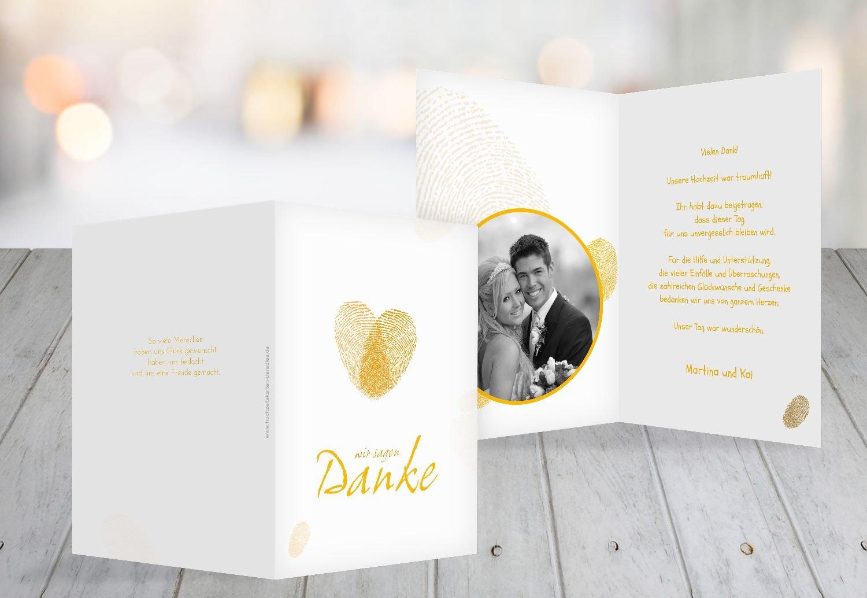 Kartenparadies Danksagung für Hochzeitsgeschenke Hochzeit Dankeskarte fingerprint, hochwertige Danksagungskarte Hochzeitsglückwünsche inklusive Umschläge   20 Karten - (Format  105x148 mm) Farbe  RosaLila B01N6TCFRQ   Fuxin    Verschi