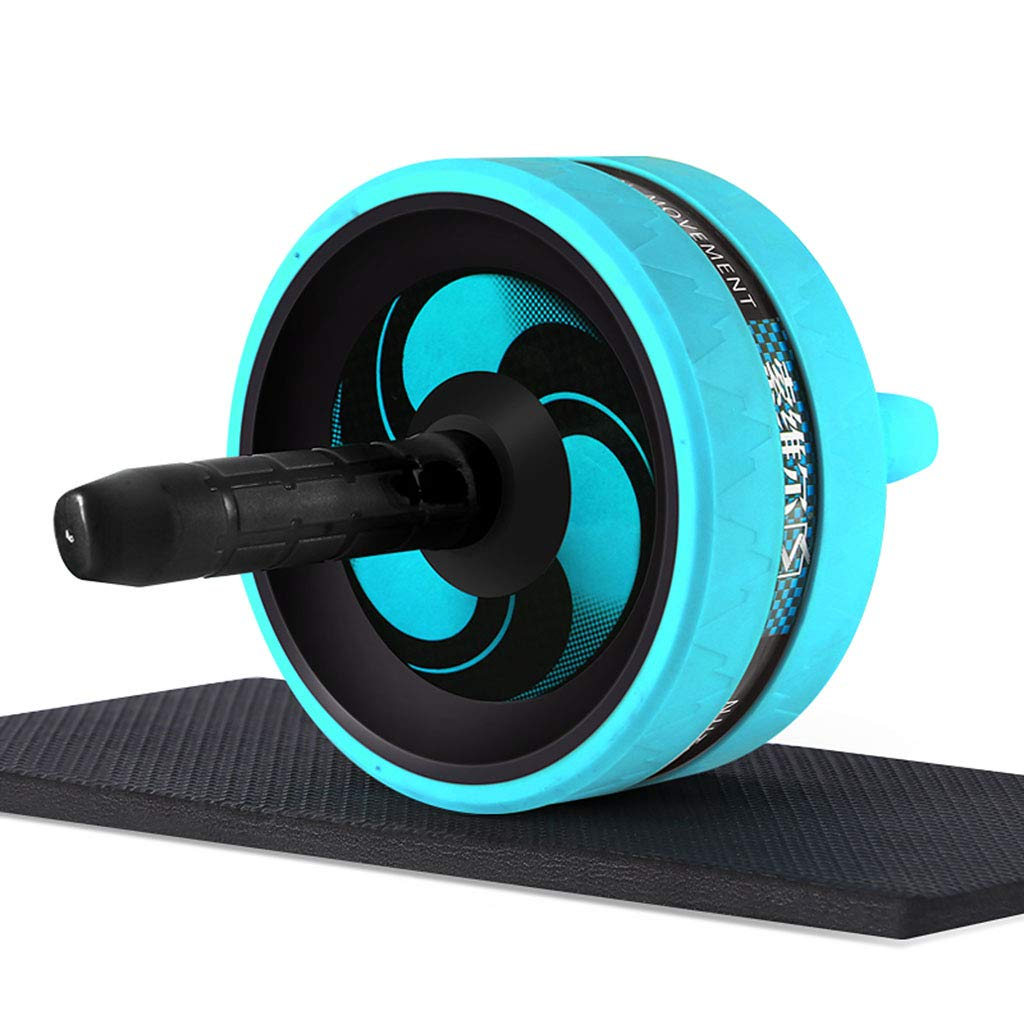bluee A Home Practice Abdominal Muscles Round Beginners Abdominal Wheel Men's Sports and Fitness Equipment Roller Weight Loss Abdomen (2 color 5 Package)