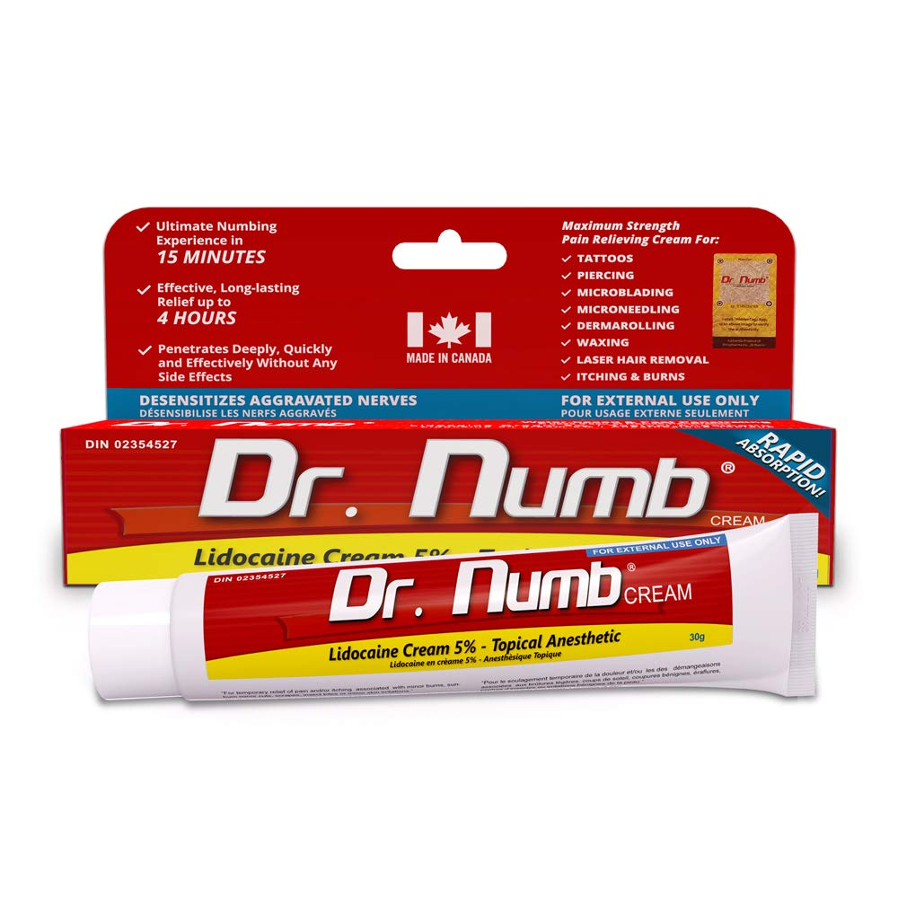 Dr. Numb Topical Numbing Cream | 5% Lidocaine Anesthetic Pain Relief ...