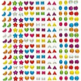 Crystal Stick-on Stones Gems Stickers Self-Adhesive Glitter Shapes Kid's Crafts Art Supplies (Pack of 280)