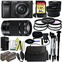 Sony Alpha a6300 Mirrorless Digital Camera with 16-50mm Lens + Sony E-Mount 55-210mm F 4.5-6.3 Lens + Pixi-Pro Accessory Bundle - International Version Explained Review Image