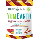 YumEarth Organic Gluten Free Sour Twists Snack Packs, Watermelon Lemonade, 6 Count