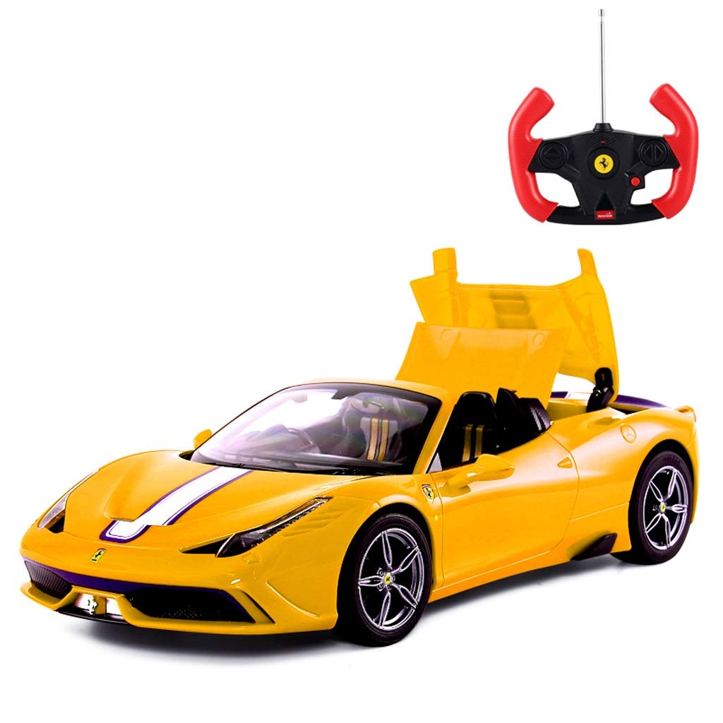 grandes ahorros Amarillo DUWEN DUWEN DUWEN Coche de Juguete de Control Remoto para niños Coche de Juguete Ferrari Converdeible Que Cochega el Coche de Cochereras (Color   Amarillo)  oferta de tienda