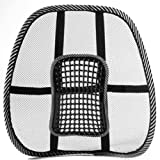 SODIAL(R) Mesh Back Lumbar Support Massage Beads For Car Seat Chair Massage Cushion