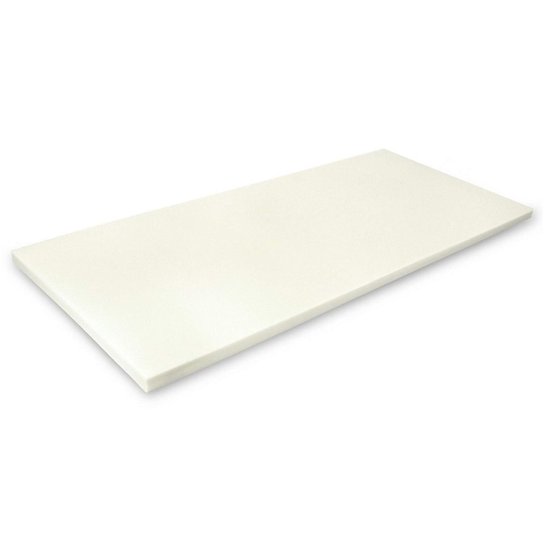 MSS Viscoelastische Matratzenauflage, ohne Bezug, 180 x 200 x 4 cm, Visco-Schaumstoff