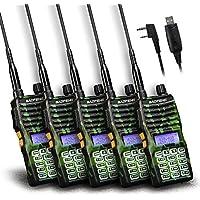 Baofeng - 5PCS UV-5XTP 8W Dual Display VHF136-174MHz UHF400-520MHz Handheld Two-way Radio Standby Transceiver Walkie Talkie+Programming Cable